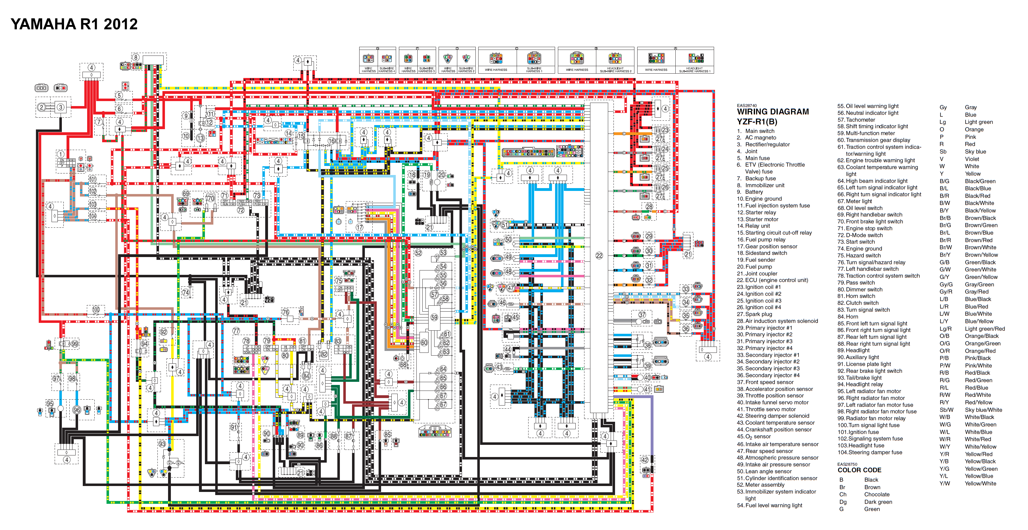 r1_2012_wiring  Yamaha R Ignition Wiring Diagram on gm hei, smart car, harley electronic,